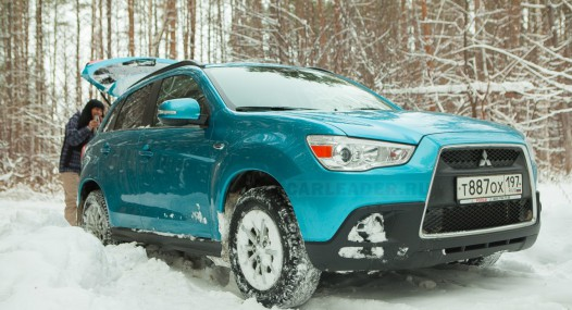 Mitsubishi ASX in forest